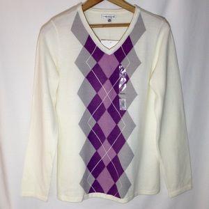 Croft & Barrow Argyle Sweater